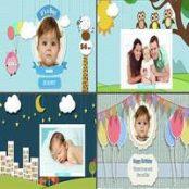 پروژه آماده افترافکت تولد کودک Baby Photo Album – Birthday