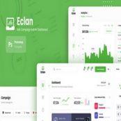 طرح لایه باز رابط کاربری دشبورد Eclan – Ads Campaign Admin Dashboard UI PSD Template