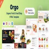 قالب سایت فروشگاه غذای ارگانیک Orgo