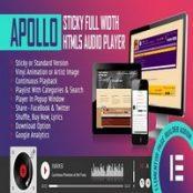 افزونه وردپرس پخش صدا Apollo برای المنتور