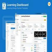 طرح لایه باز رابط کاربری Learning Education Academy Dashboard