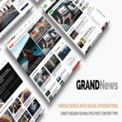 قالب وردپرس سایت خبری و مجله Grand News