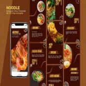 طرح لایه باز قالب آماده استوری اینستاگرام نودل Noodles – Food Instagram story Template