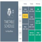 افزونه وردپرس جدول برنامه ریزی Timetable Responsive Schedule