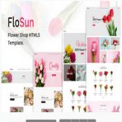 قالب اچ تی ام ال فروشگاه گل FloSun