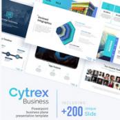 قالب آماده پاورپوینت بیزنس Cytrex – Business Plan PowerPoint Template