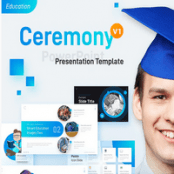 قالب آماده پاورپوینت Ceremony Education PowerPoint Template