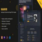 قالب شخصی تک صفحه Manvir