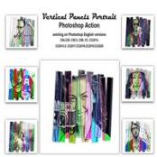 اکشن فتوشاپ Vertical Panels Portrait