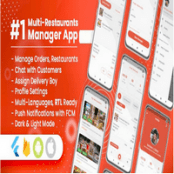 سورس Manager / Owner for Multi-Restaurants Flutter App