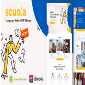 قالب آموزش زبان Scuola راستچین برای وردپرس