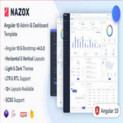 قالب انگولار Nazox