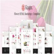 قالب بوت استرپ گل فروشی Kngu