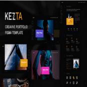 قالب نمونه کار فیگما Kezta