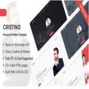 قالب نمونه کار و رزومه Cristino