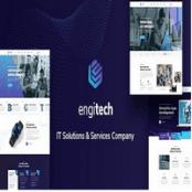 قالب HTML خدمات کامپیوتر Engitech