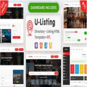 قالب HTML دایرکتوری U-Listing Directory