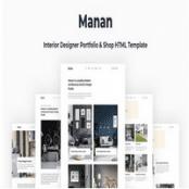 قالب HTML دکوراسیون داخلی Manan