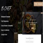 قالب HTML رستوران B-Chef