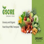 قالب HTML سوپرمارکت Gsore