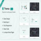 قالب HTML صفحه فرود Thamza