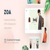 قالب HTML مینیمال Zoa