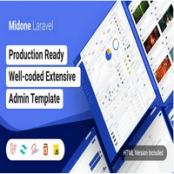 قالب HTML و Laravel داشبورد مدیریتی Midone