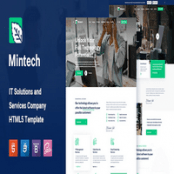 قالب HTML5 شرکتی Mintech
