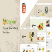 قالب HTML5 محصولات ارگانیک Obrien
