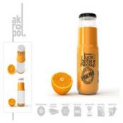 ماک آپ شیشه آب پرتقال