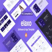 قالب HTML نرم افزار و اپلیکیشن Elaxo