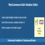 افزونه WooCommerce Bulk Variation Editor