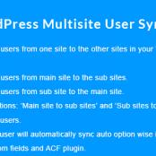 افزونه WordPress Multisite User Sync/Unsync