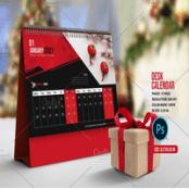 طرح تقویم رومیزی Desk Calendar 2021 V01