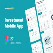 طرح رابط کاربری اپلیکیشن Invest Men