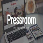 قالب pressroom برای وردپرس