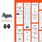 کیت وایرفریم اپلیکیشن موبایل Paper