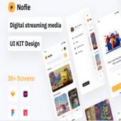 کیت UI اپلیکیشن پخش آنلاین فیلم Nofie