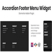 دانلود Accordion Footer Menu Widget برای المنتور