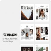 قالب وبلاگی The Fox برای وردپرس