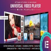 افزونه Universal Video Player برای المنتور
