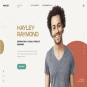 قالب HTML رزومه شخصی Hayley