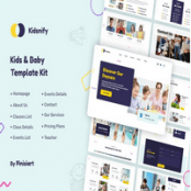 کیت تمپلیت مهدکودک Kidsnify برای المنتور