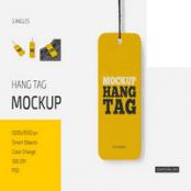 موکاپ تگ و برچسب Hang Tag
