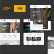 تمپلیت کیت صنعتی Lightwire برای المنتور