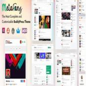 قالب شبکه اجتماعی MetaFans برای وردپرس