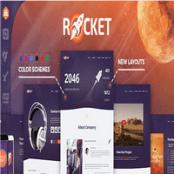قالب Rocket برای وردپرس همراه با psd